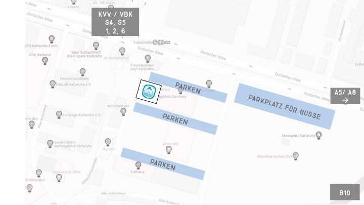 Carls Wirtshaus Kontakt, Parken, Busparkplatz